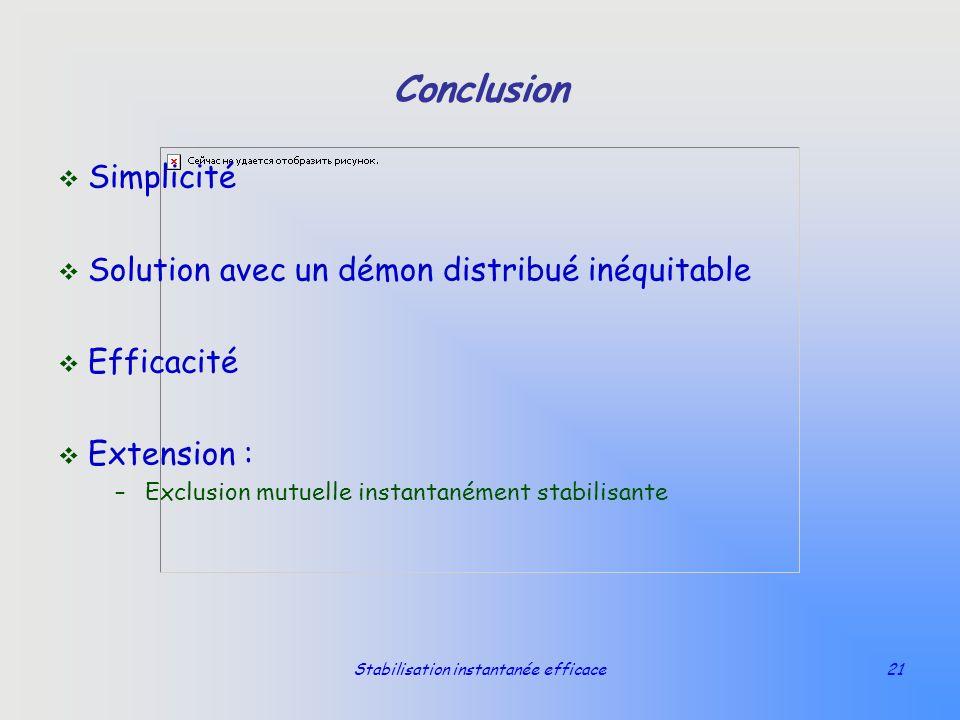 Stabilisation instantanée efficace