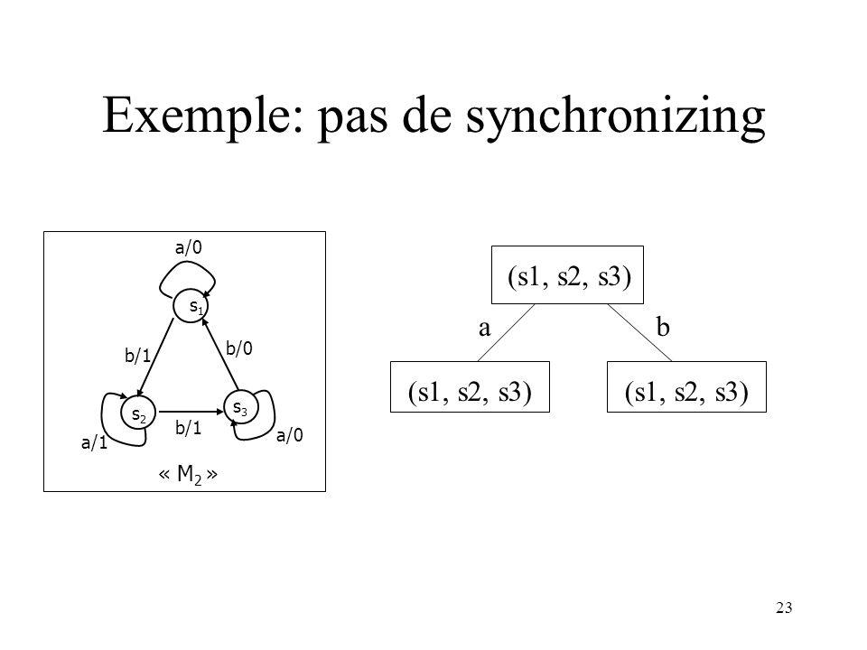 Exemple: pas de synchronizing