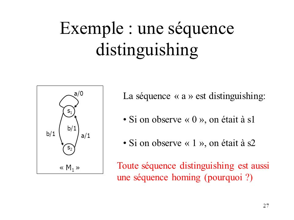Exemple : une séquence distinguishing