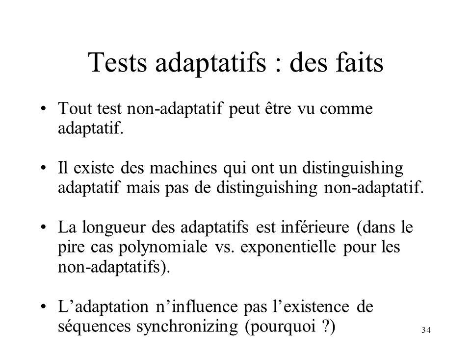 Tests adaptatifs : des faits