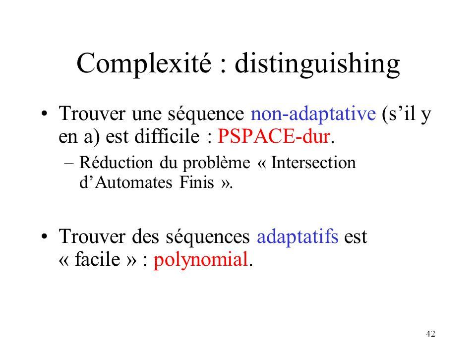 Complexité : distinguishing