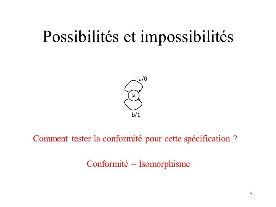 Possibilités et impossibilités