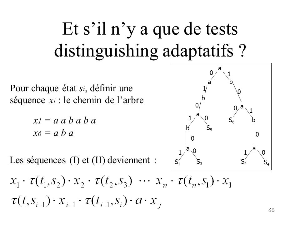 Et s'il n'y a que de tests distinguishing adaptatifs