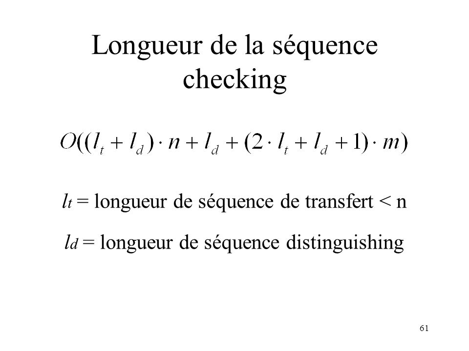 Longueur de la séquence checking