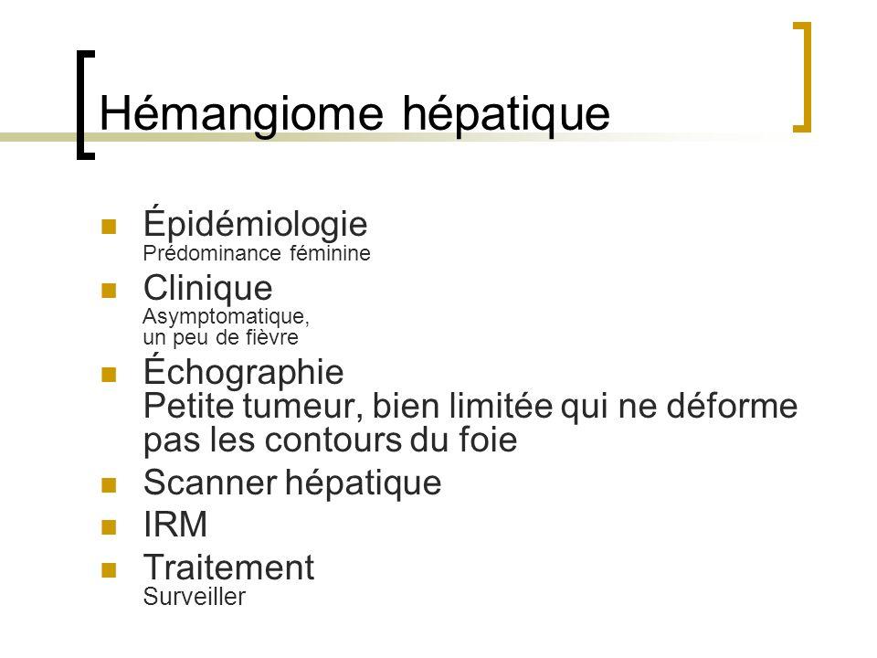 Hémangiome hépatique Épidémiologie Prédominance féminine