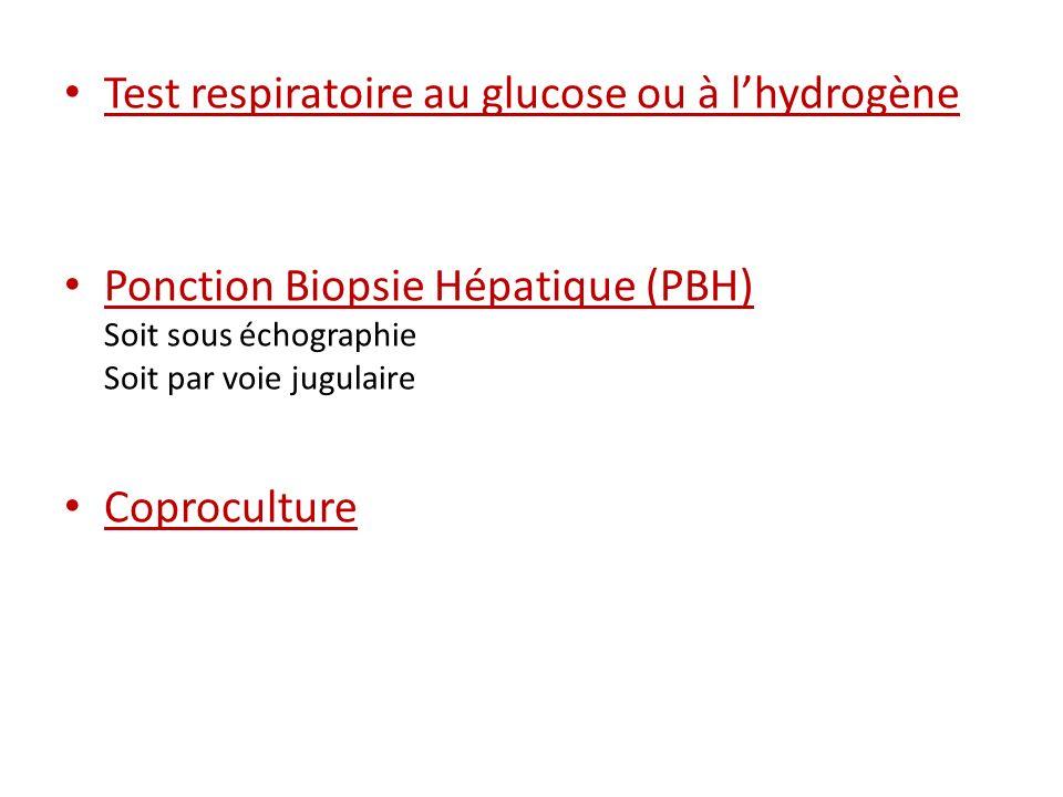 Test respiratoire au glucose ou à l'hydrogène