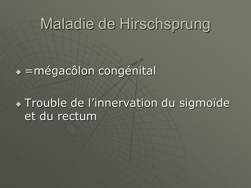 Maladie de Hirschsprung