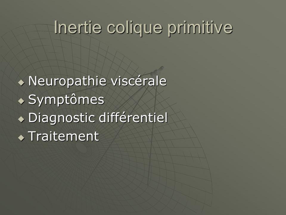 Inertie colique primitive