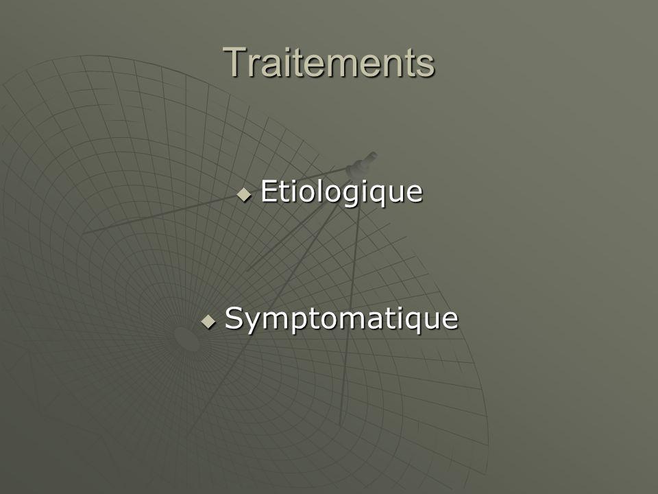 Traitements Etiologique Symptomatique