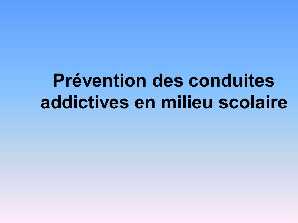 Prévention des conduites addictives en milieu scolaire