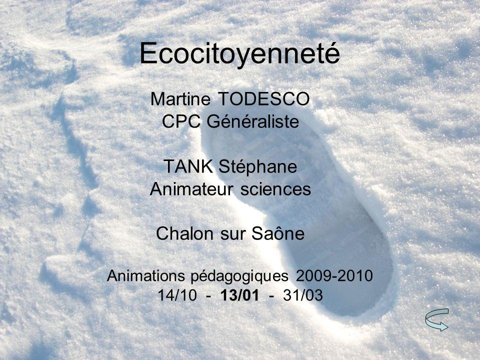 Animations pédagogiques 2009-2010