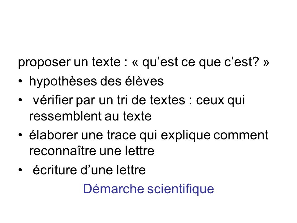 Démarche scientifique