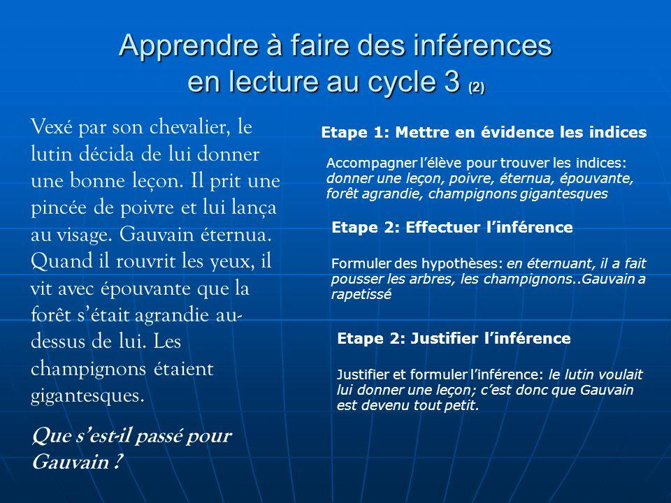 Apprendre à faire des inférences en lecture au cycle 3 (2)