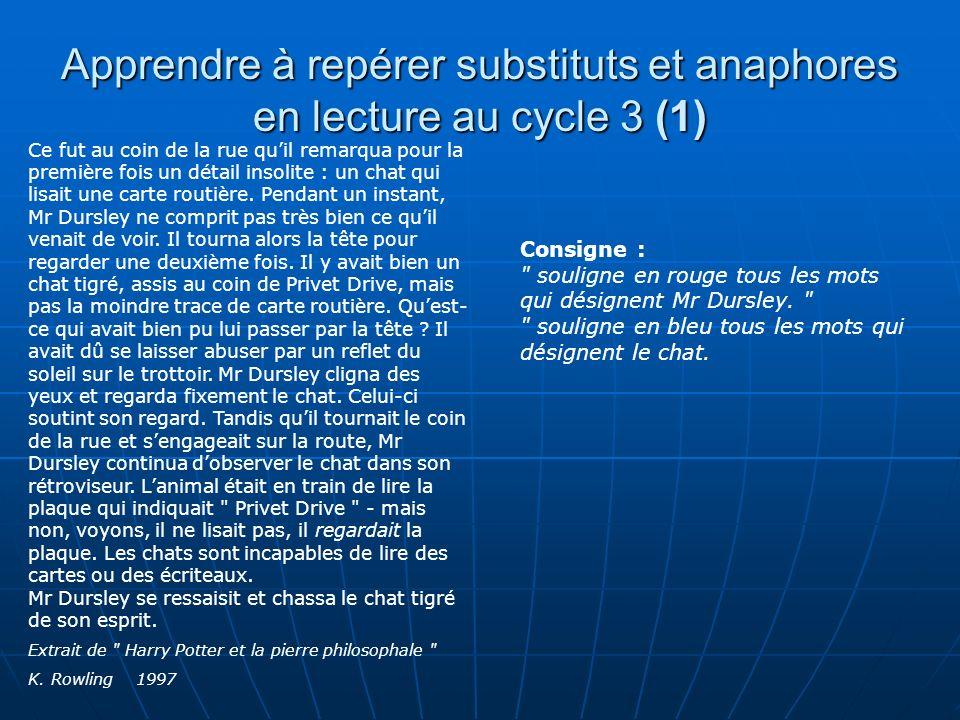 Apprendre à repérer substituts et anaphores en lecture au cycle 3 (1)