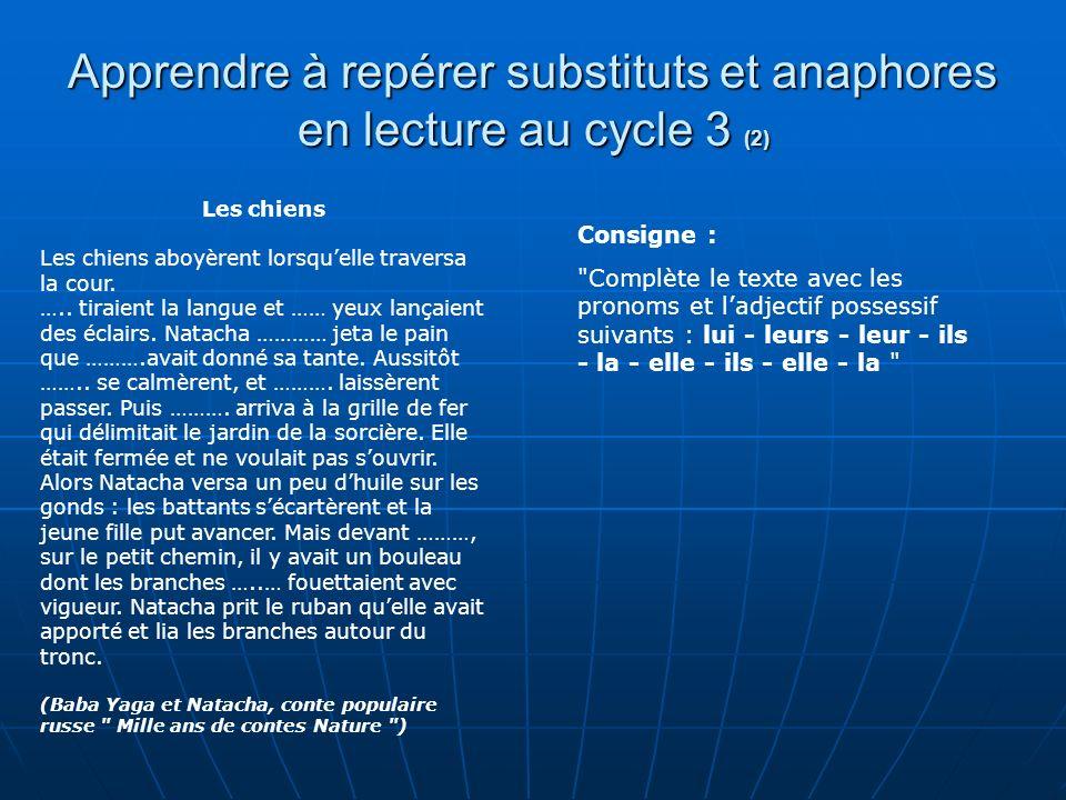 Apprendre à repérer substituts et anaphores en lecture au cycle 3 (2)
