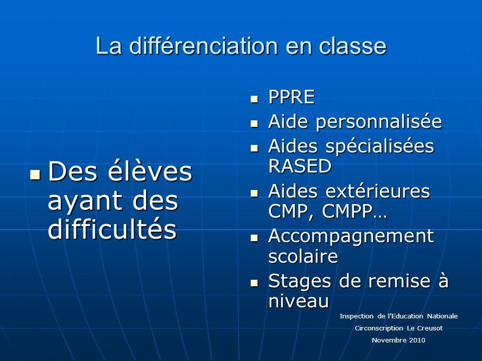 La différenciation en classe