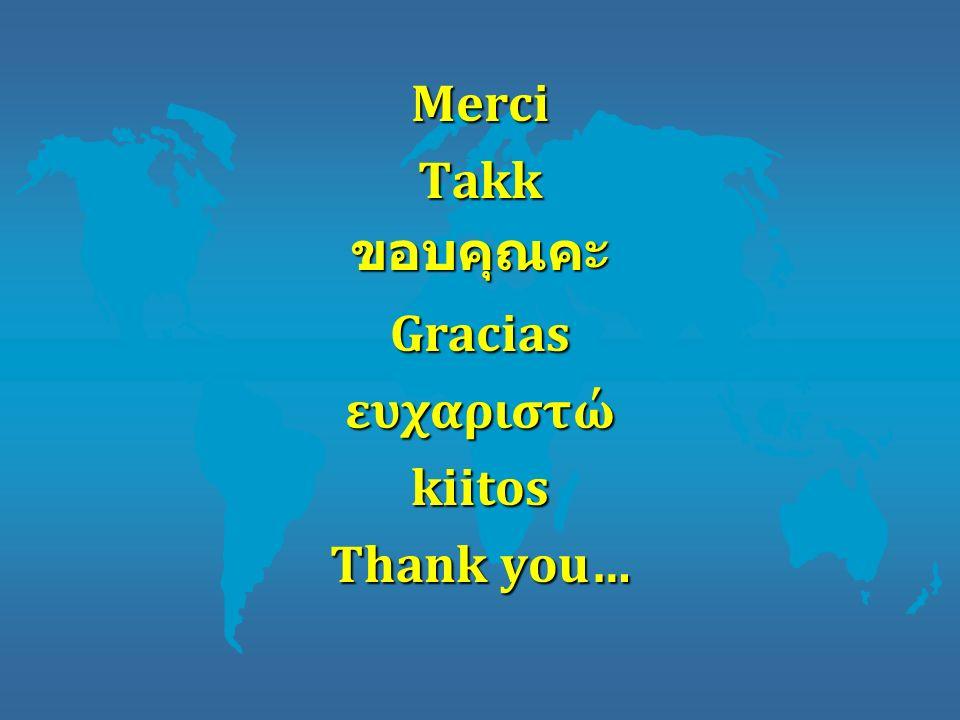 Merci Takk ขอบคุณคะ Gracias ευχαριστώ kiitos Thank you…