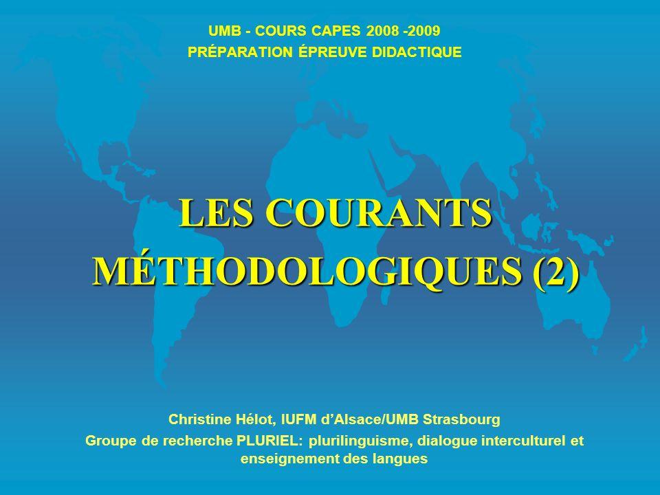 UMB - COURS CAPES 2008 -2009 PRÉPARATION ÉPREUVE DIDACTIQUE