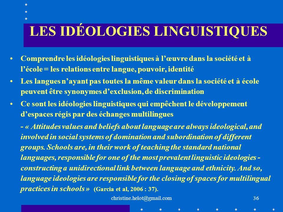 LES IDÉOLOGIES LINGUISTIQUES