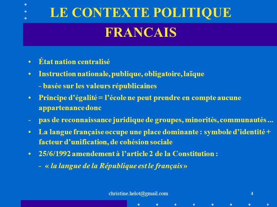 LE CONTEXTE POLITIQUE FRANCAIS
