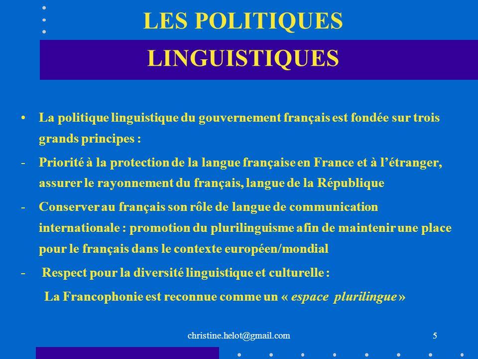 LES POLITIQUES LINGUISTIQUES