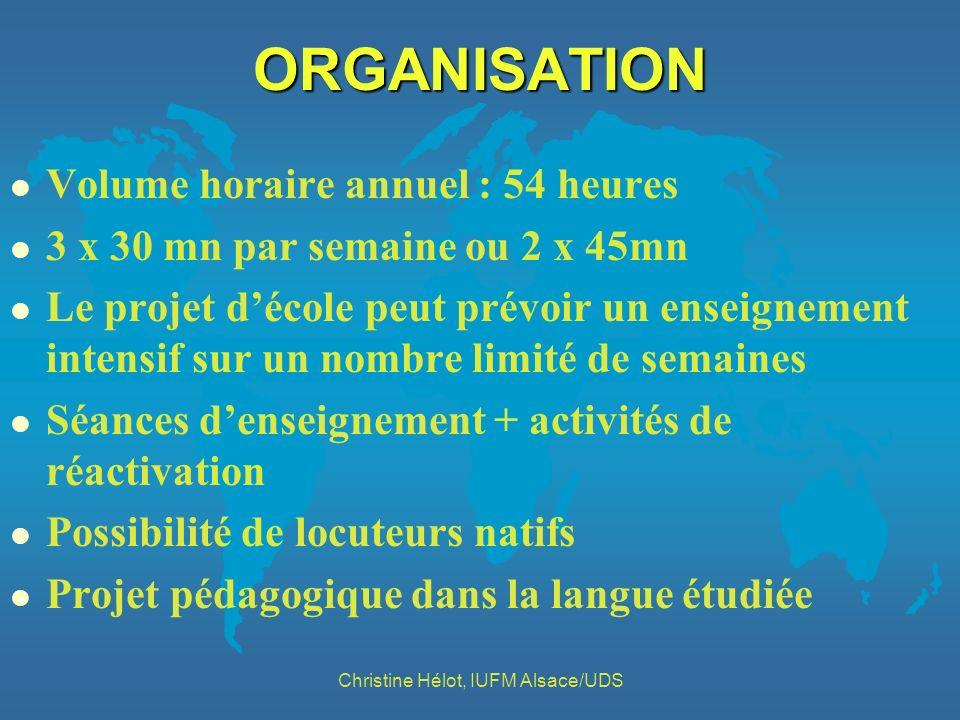 Christine Hélot, IUFM Alsace/UDS