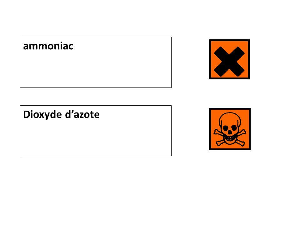 ammoniac Dioxyde d'azote