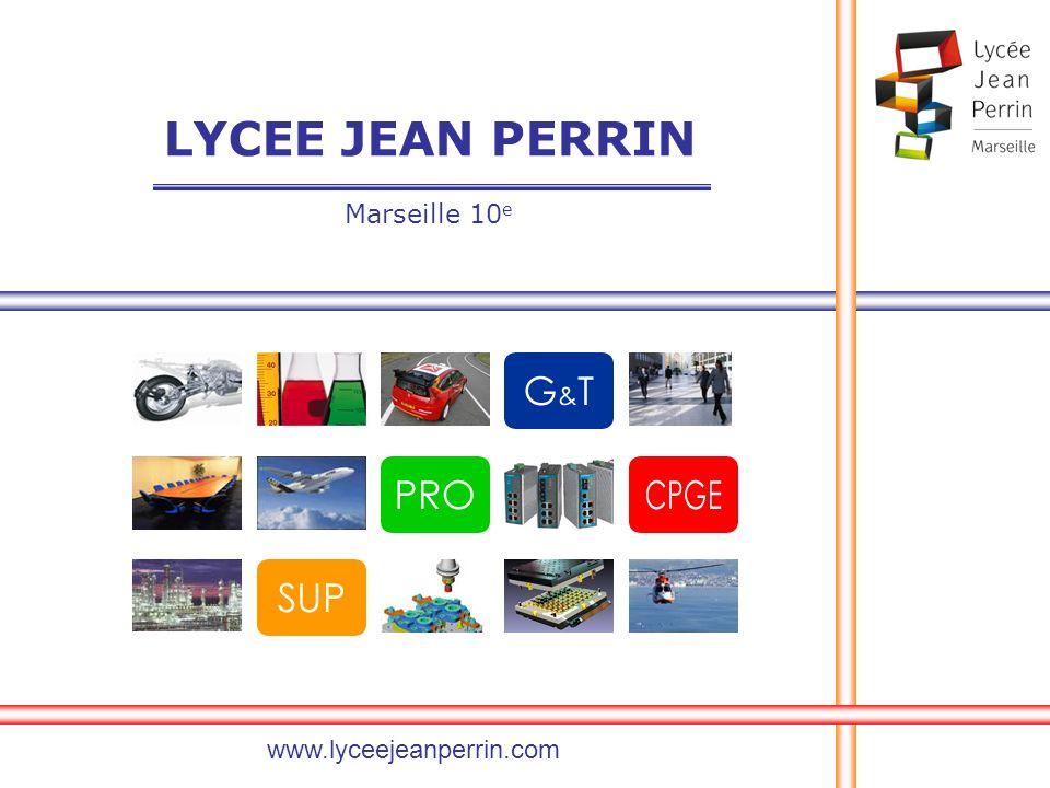 LYCEE JEAN PERRIN Marseille 10e www.lyceejeanperrin.com