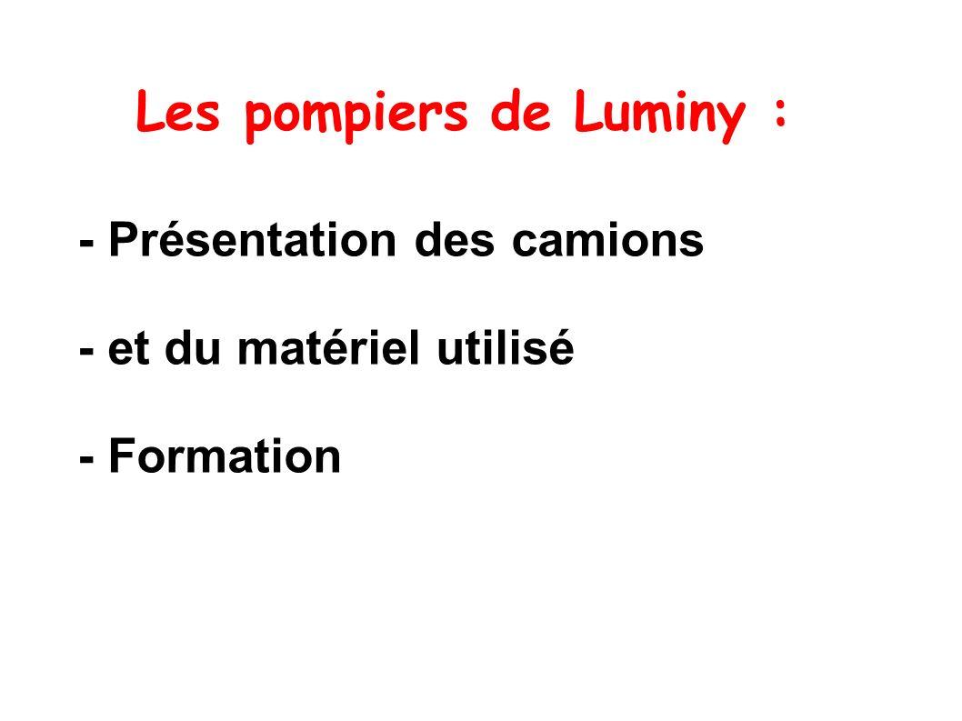 Les pompiers de Luminy :
