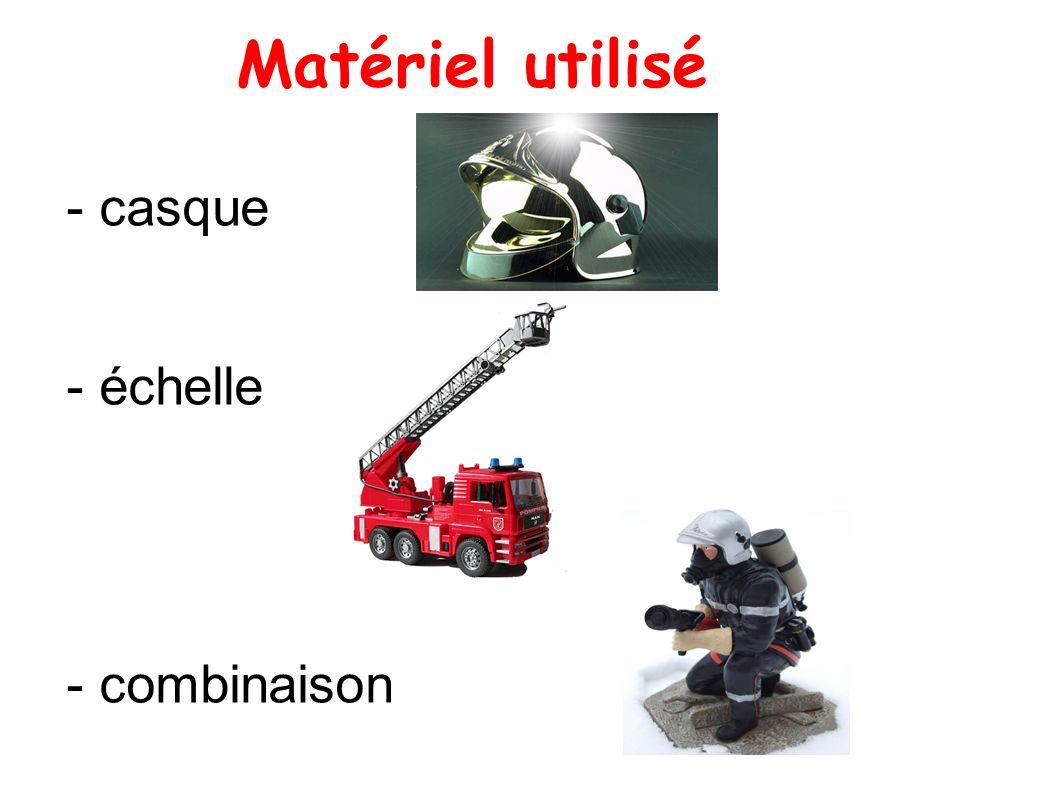 Matériel utilisé - casque - échelle - combinaison