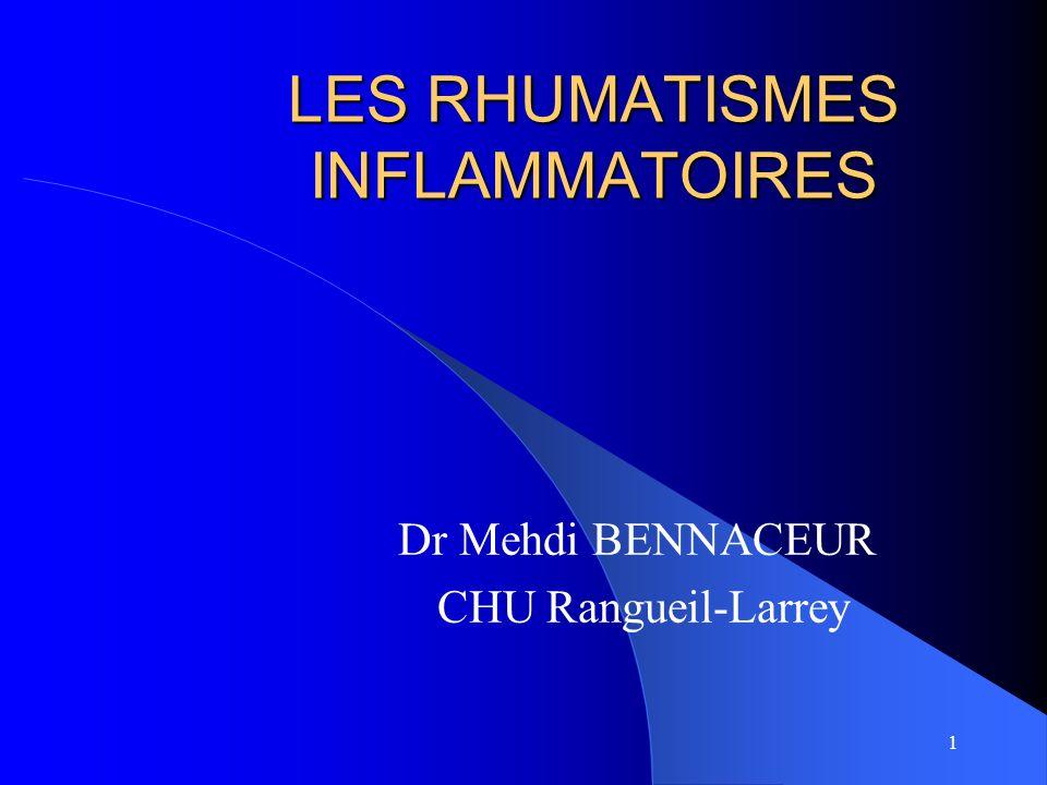 LES RHUMATISMES INFLAMMATOIRES