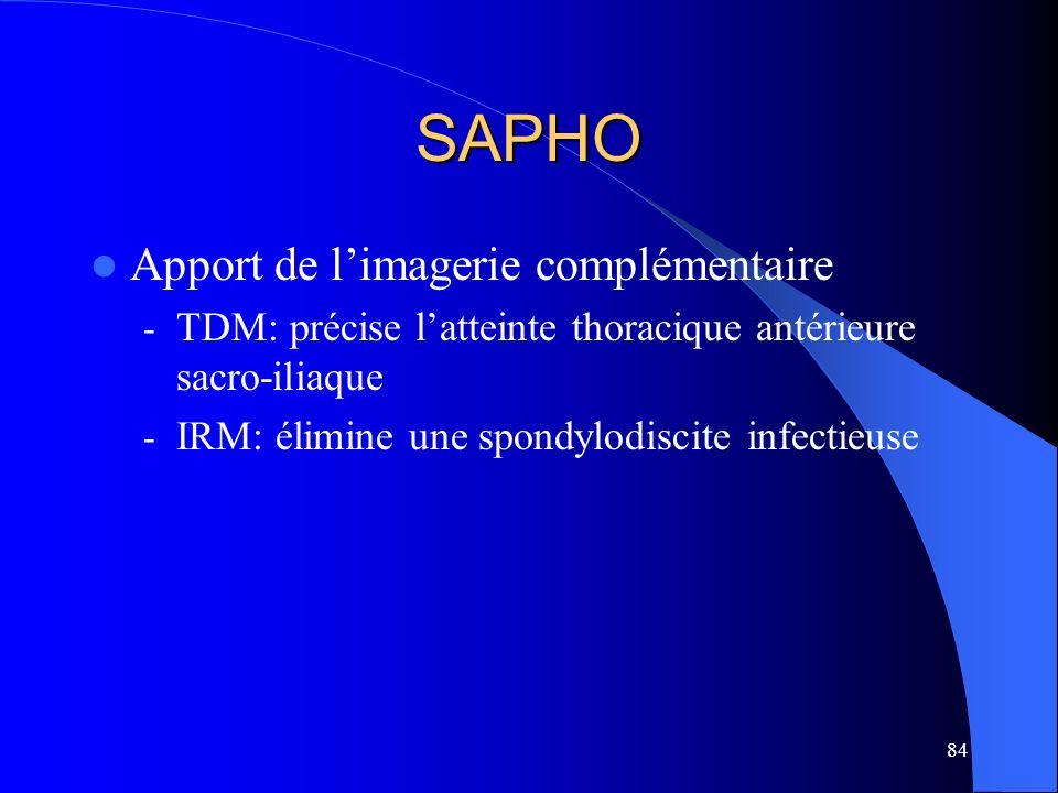 SAPHO Apport de l'imagerie complémentaire