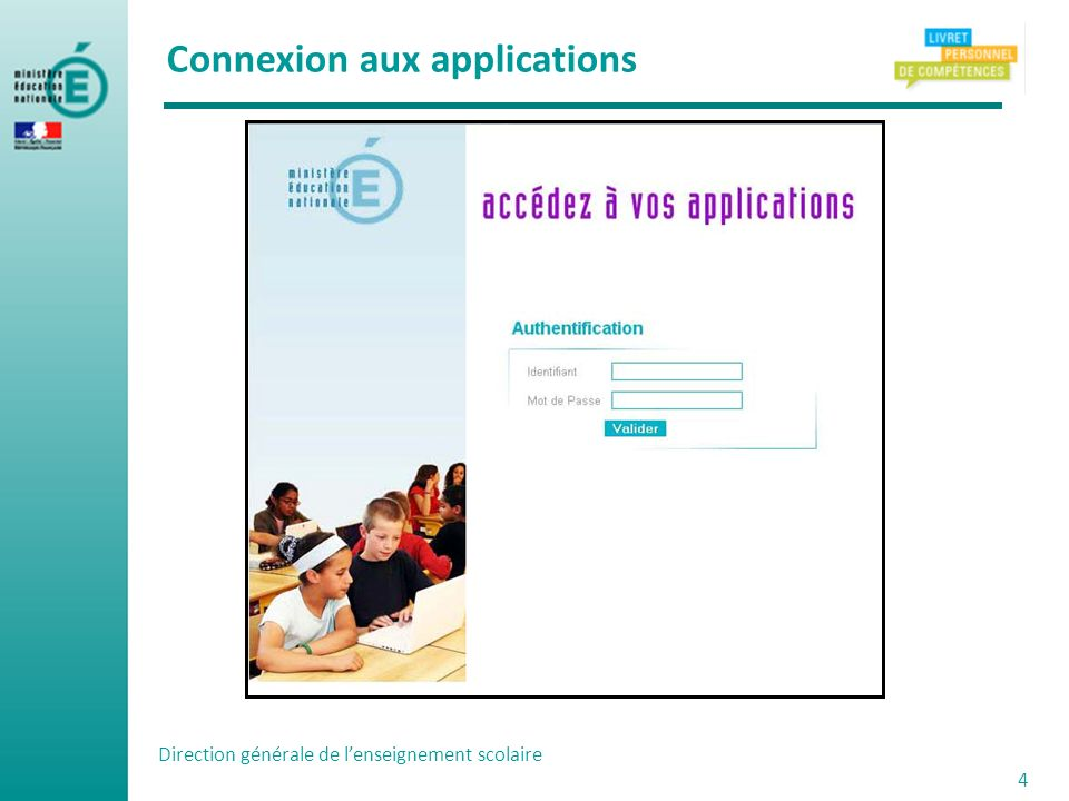 Connexion aux applications
