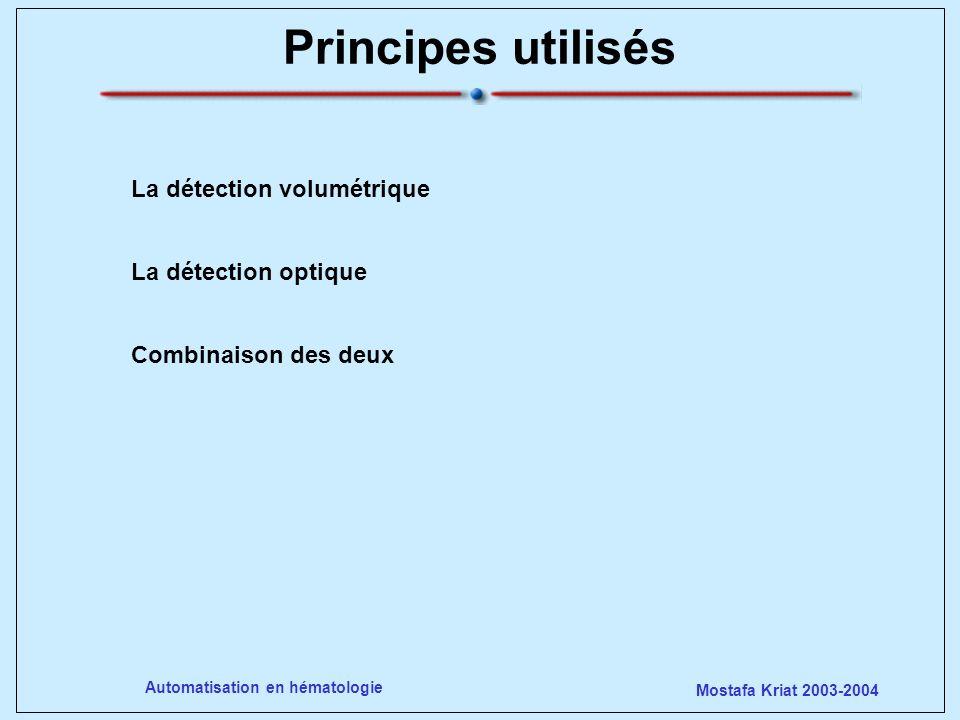 Principes utilisés La détection volumétrique La détection optique