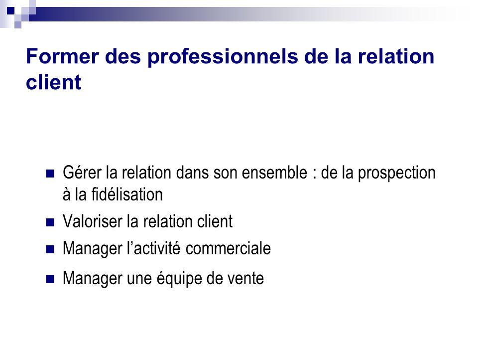 Former des professionnels de la relation client