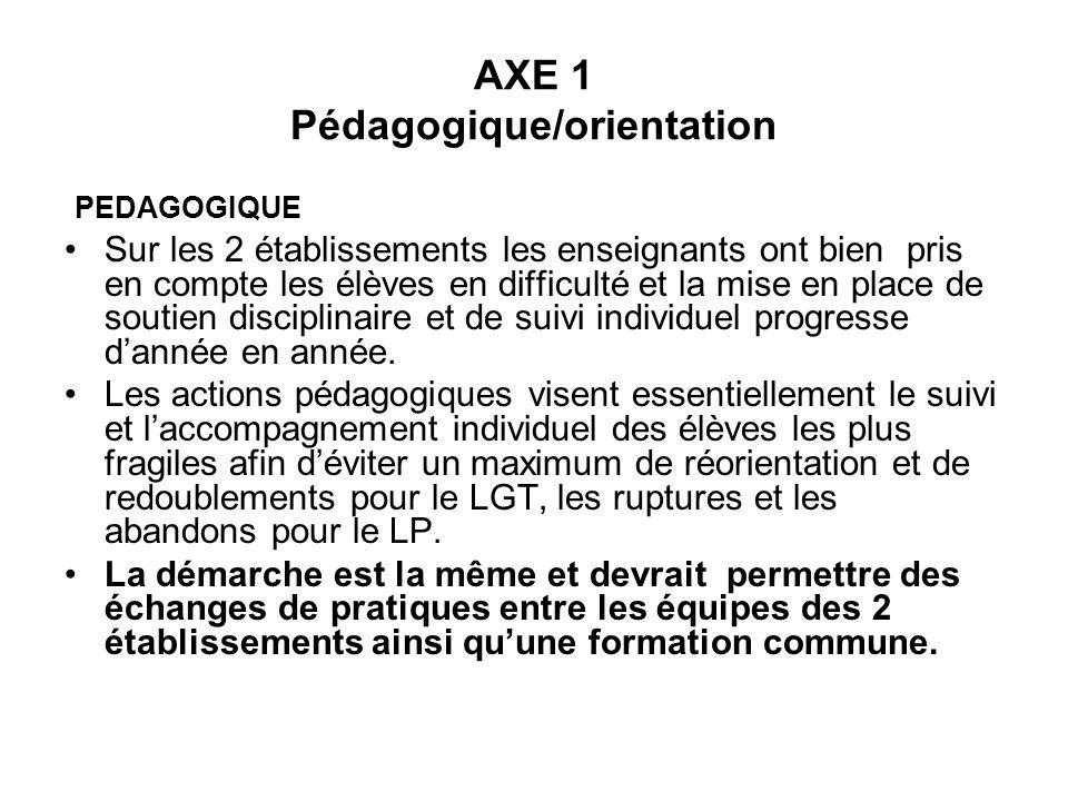 AXE 1 Pédagogique/orientation