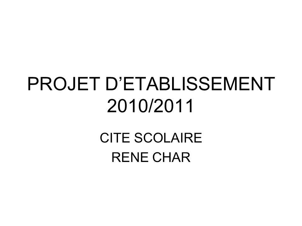 PROJET D'ETABLISSEMENT 2010/2011