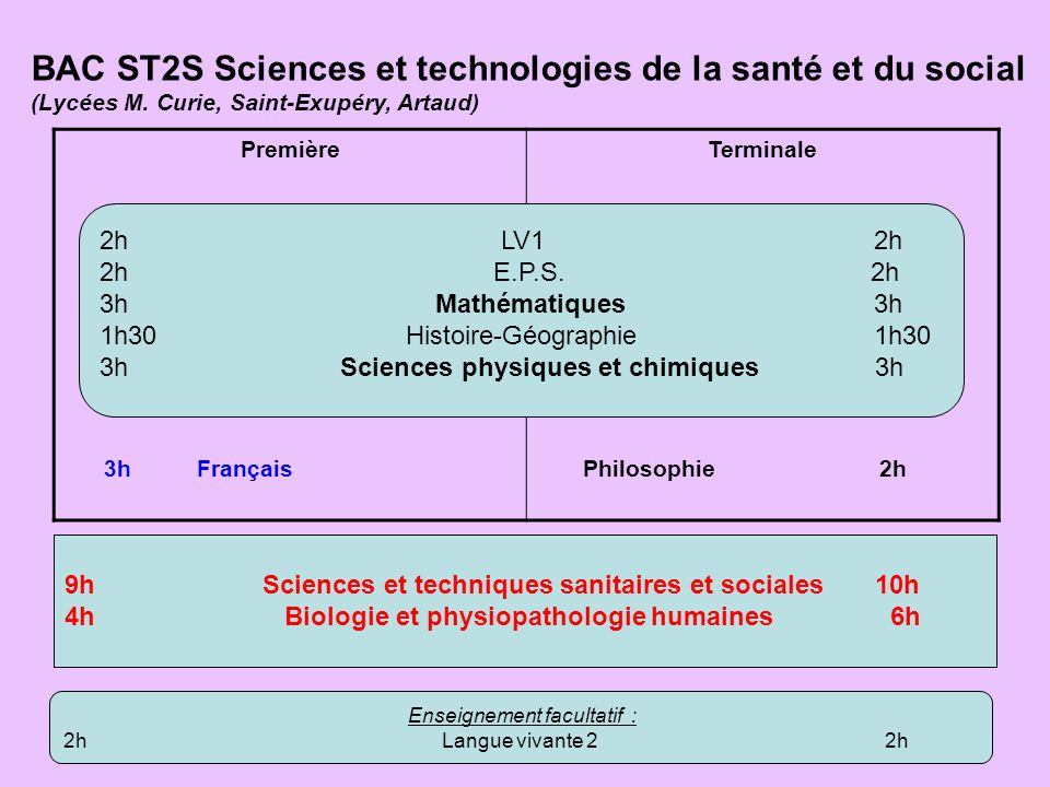 BAC ST2S Sciences et technologies de la santé et du social
