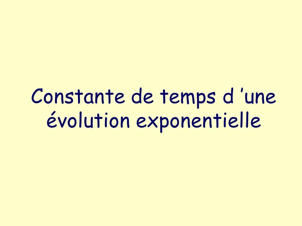Constante de temps d 'une évolution exponentielle