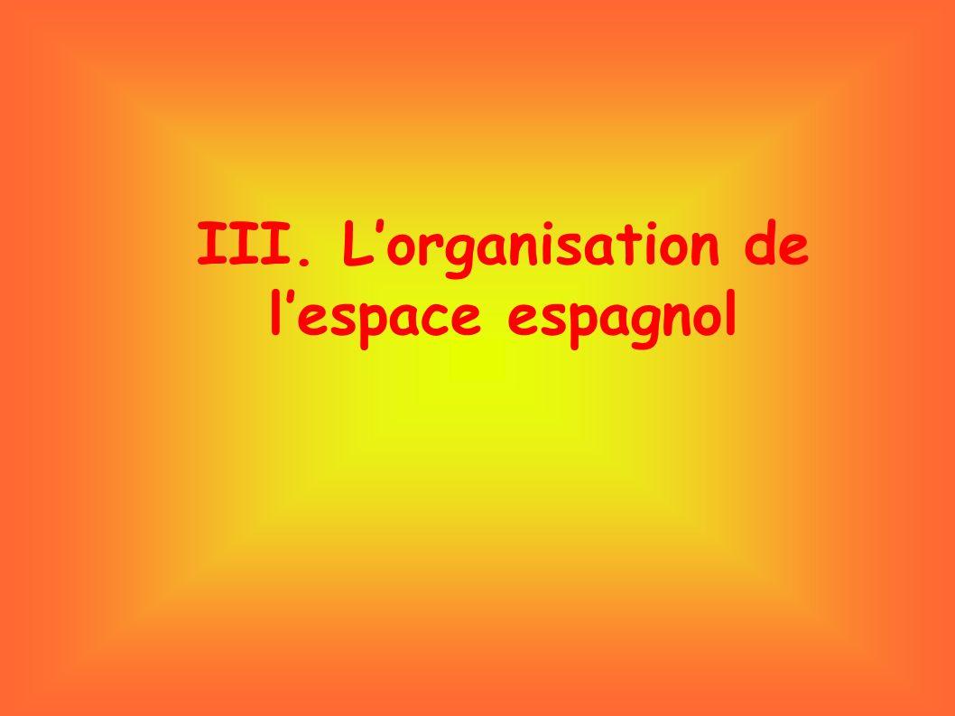 III. L'organisation de l'espace espagnol
