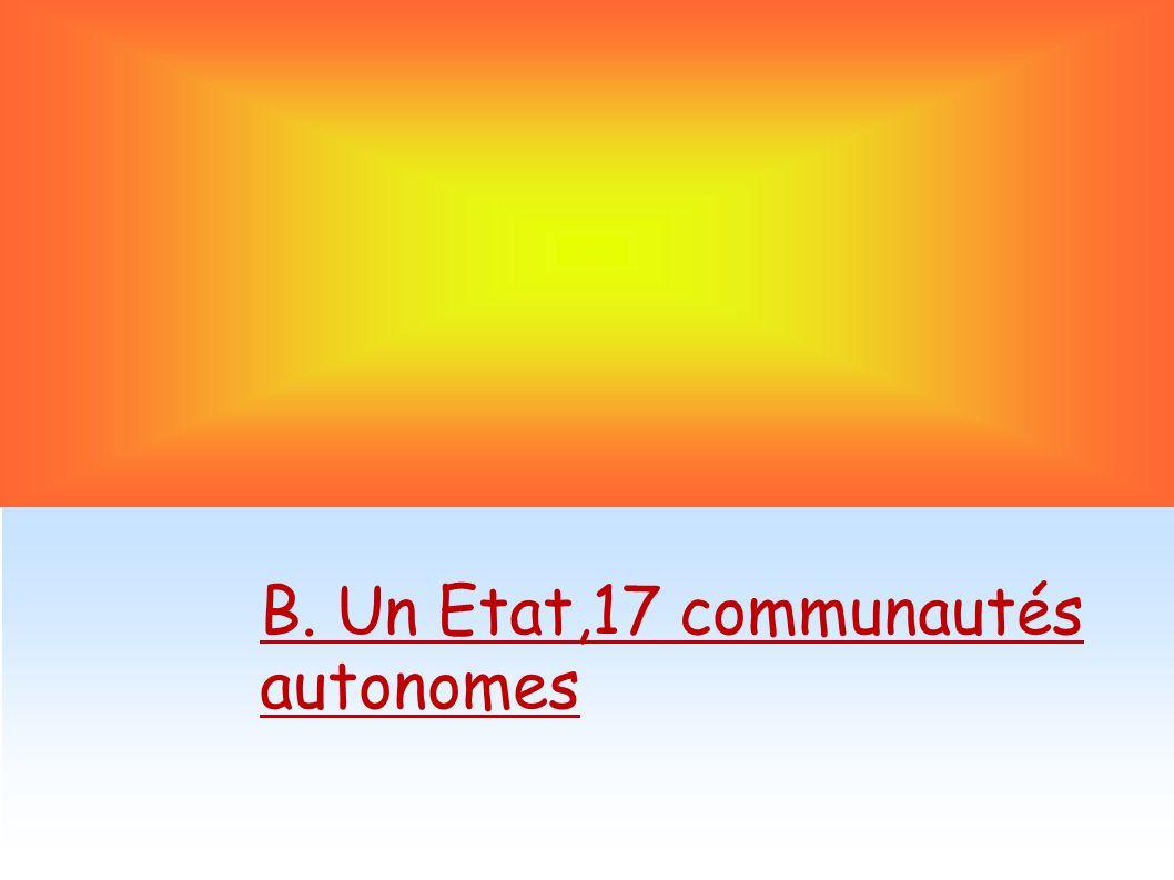 B. Un Etat,17 communautés autonomes