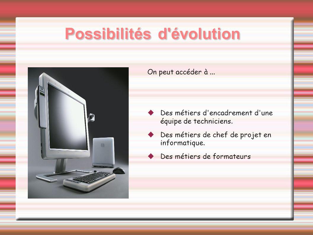 Possibilités d évolution