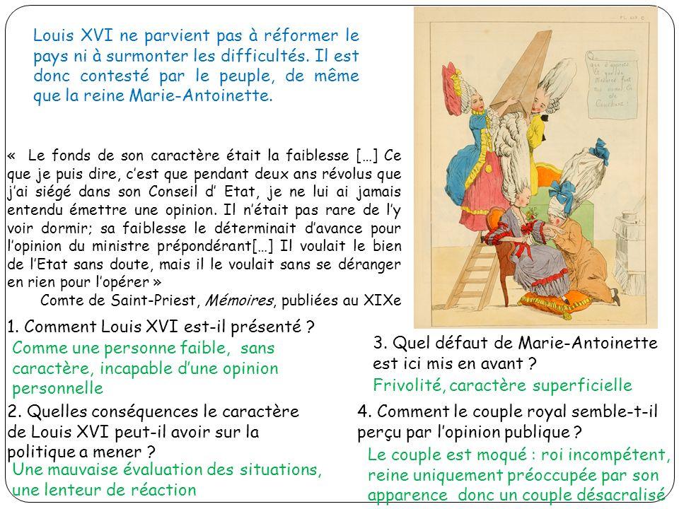 1. Comment Louis XVI est-il présenté