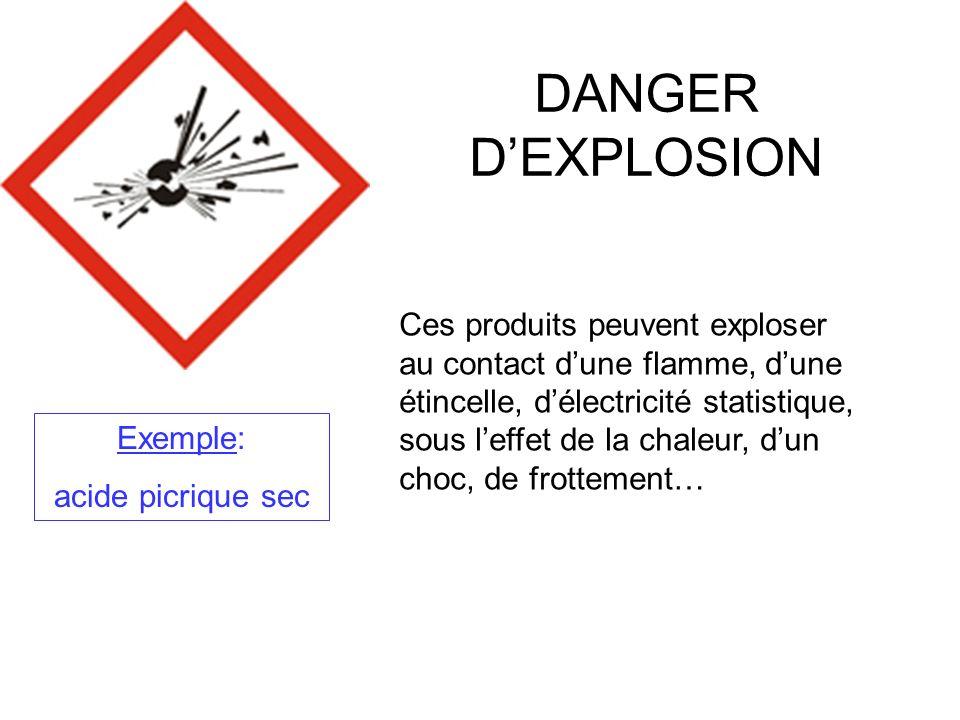 DANGER D'EXPLOSION