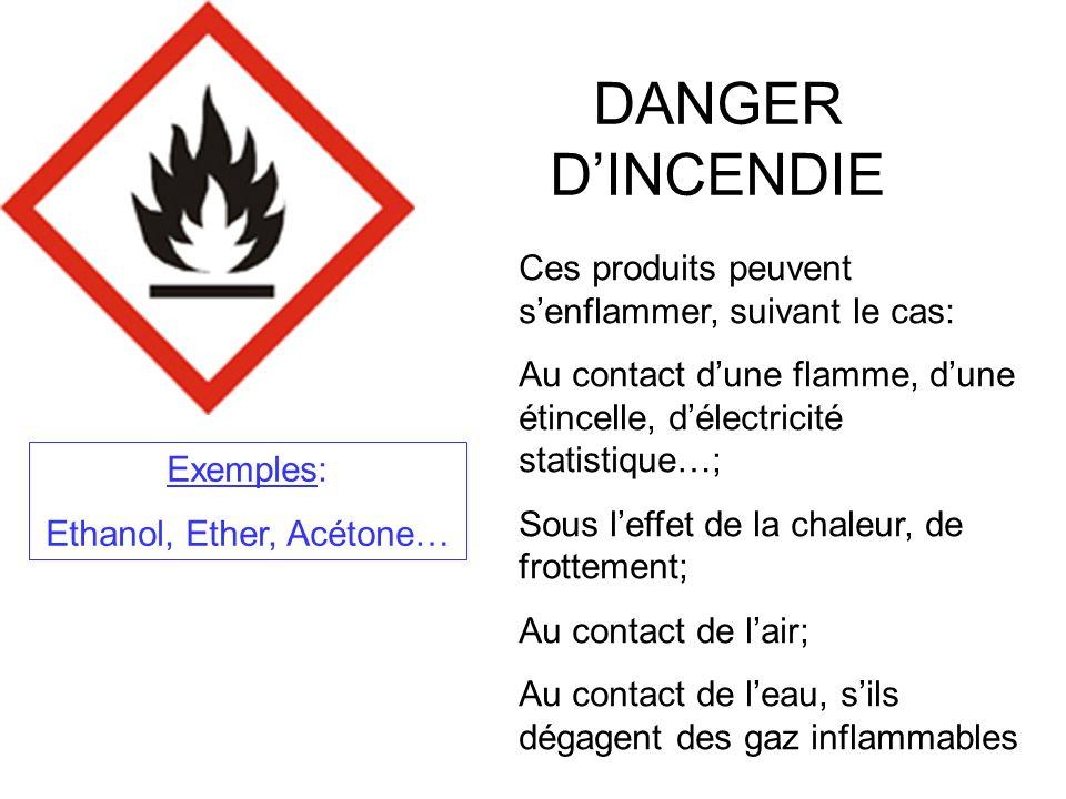 Ethanol, Ether, Acétone…