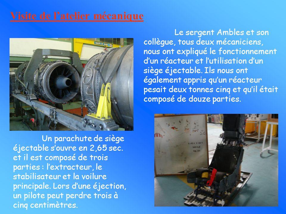 Visite de l'atelier mécanique