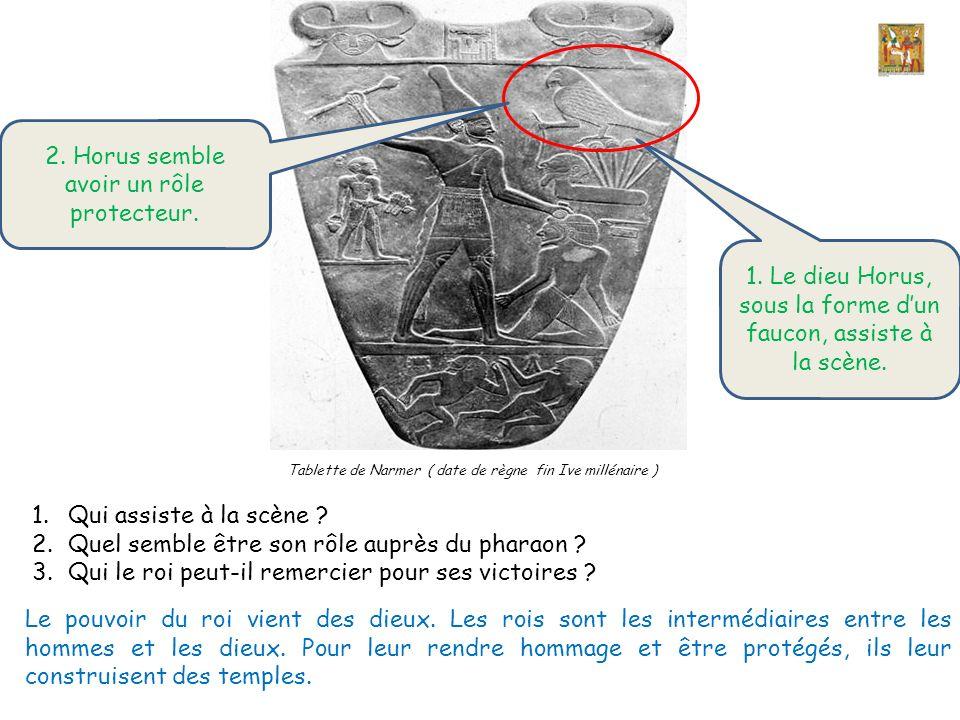 2. Horus semble avoir un rôle protecteur.