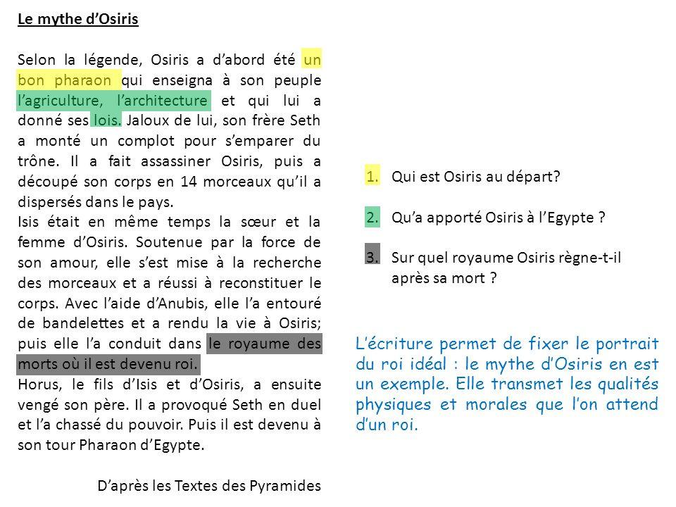 Le mythe d'Osiris