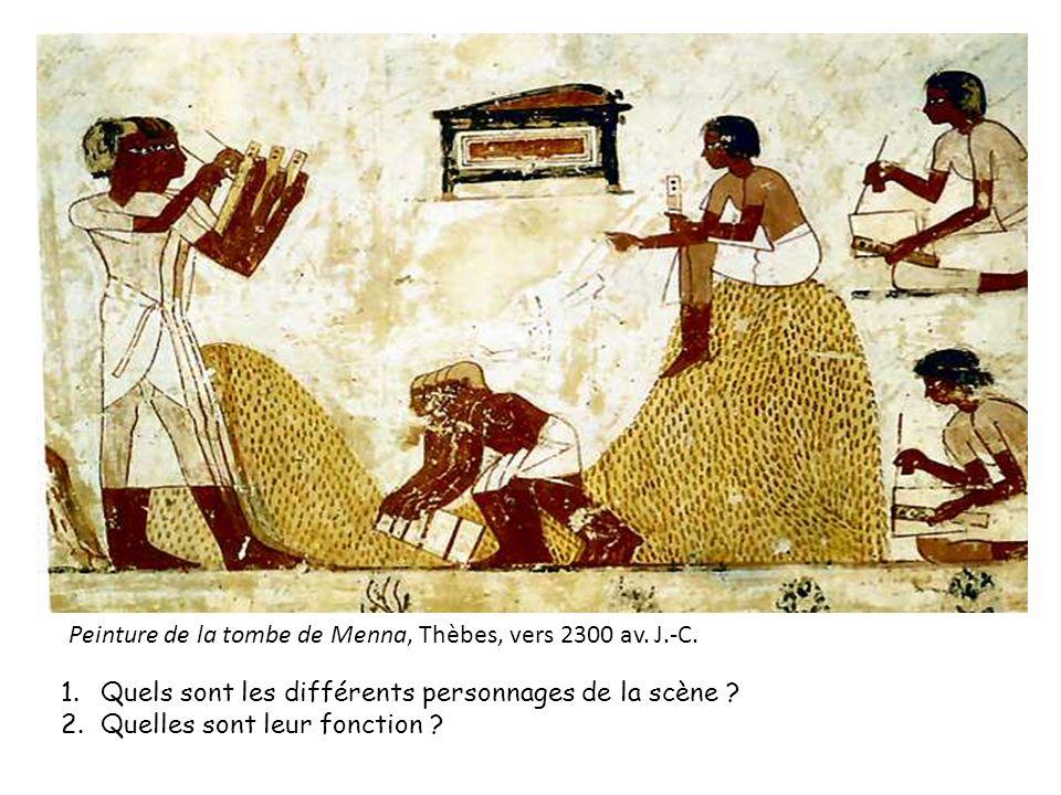Peinture de la tombe de Menna, Thèbes, vers 2300 av. J.-C.