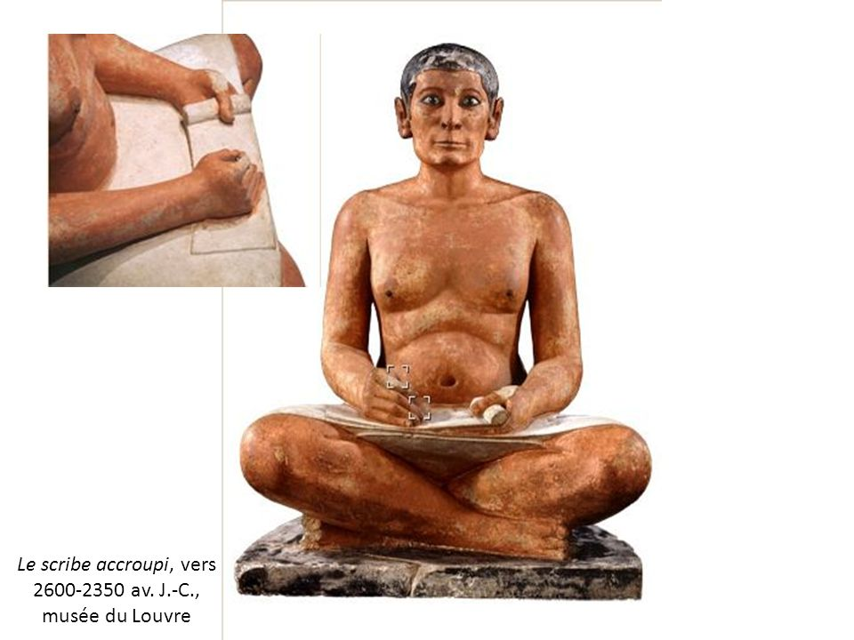Le scribe accroupi, vers 2600-2350 av. J.-C., musée du Louvre